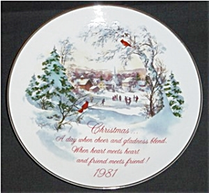 1981 American Greetings Christmas Plate (Image1)