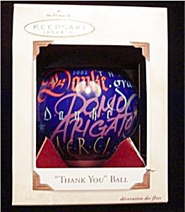 2002 Thank You Ball Hallmark Ornament (Image1)