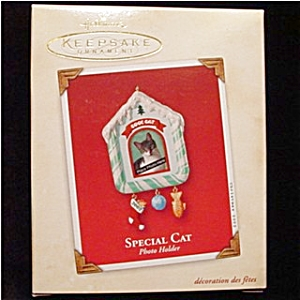 2002 Special Cat Photo Holder Ornament (Image1)