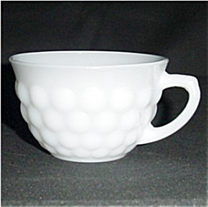 Anchor Hocking Milk Glass Bubble Cup