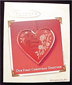 2002 Our First Christmas Together Ornament (Image1)