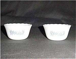 Fire King Currier & Ives Custard Cups 2 (Image1)