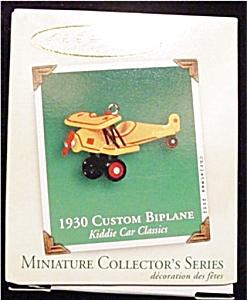 1930 Custom Biplane Mini Hallmark Ornament (Image1)