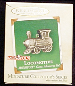 2002 Monopoly Locomotive Mini Ornament (Image1)