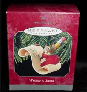 "Hallmark Ornament ""Writing to Santa"" (Image1)"