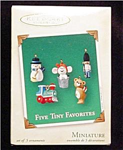 2002 Five Tiny Favorites Mini Ornaments (Image1)
