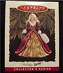 1996 Holiday Barbie Hallmark Ornament (Image1)