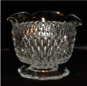 Diamond Point Footed Sherbet Bowl