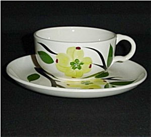 Dogwood Pattern Cup and Saucer Set (Image1)