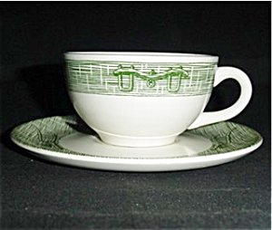 Currier And Ives Cup And Saucer Set (Image1)