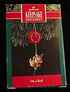 1991 On a Roll Hallmark Ornament (Image1)