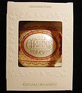 1981 Grandmother Satin Hallmark Ornament (Image1)