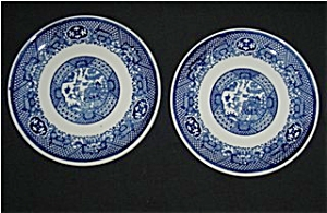 Blue Willow Bread and Butter Plates (2) (Image1)