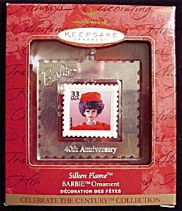 1999 Silken Barbie Stamp Hallmark Ornament (Image1)