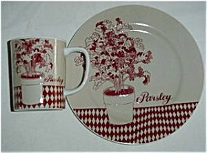 Fitz & Floyd Parsley Cup and Plate Set (Image1)