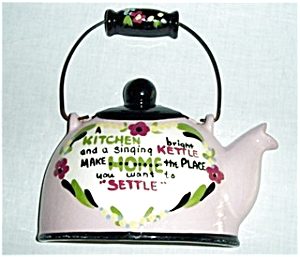 Cleminson Tea Kettle Wall Pocket (Image1)