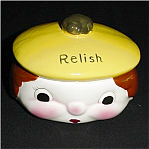 Anthropomorphic Relish Dish of Boy with Hat (Image1)
