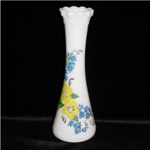 Milk Glass Floral Bud Vase