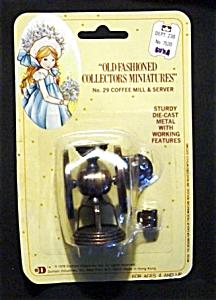 Miniature Die Cast Metal Coffee Mill (Image1)