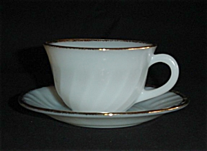 Fire King Golden Anniversary Cup and Saucer (Image1)