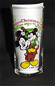 Coca-cola Disney Mickey Mouse Christmas Glass