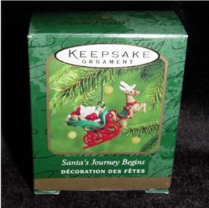 Santas Journey Begins Mini Hallmark Ornament (Image1)