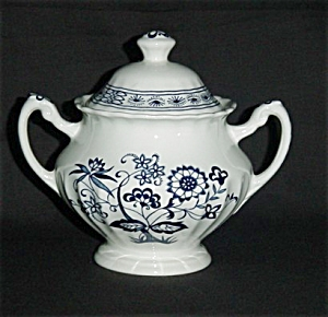 J & G Meakin Blue Nordic Sugar Bowl (Image1)