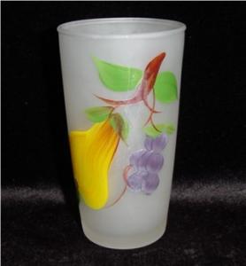 Hazel Atlas Frosted Drinking Glass (Image1)
