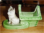 Click here to enlarge image and see more about item 1014ss: Shawnee Dog & Doghouse Planter
