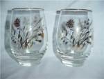 Click here to enlarge image and see more about item 1026: Libbey Flower & Wheat Glasses