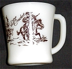 Click here to enlarge image and see more about item 1035s: Fire King Davy Crockett Mug