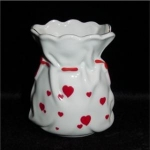 Click here to enlarge image and see more about item 1037: Lefton China Heart Bud Vase