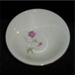 Click here to enlarge image and see more about item 1037c: Rose Design Vegetable Bowl
