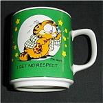 Click to view larger image of 1978 Enesco Garfield I Get No Respect Mug (Image1)