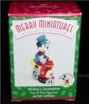 Mickey's Locomotive Hallmark Mini Ornament