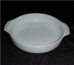 Click here to enlarge image and see more about item 1071: Fire King Milk Glass Casserole Dish