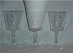 Click here to enlarge image and see more about item 1073: Showalter Crystal Footed Glasses