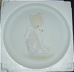Click here to enlarge image and see more about item 1086s: Precious Moments 1981 Limited Edtion Plate
