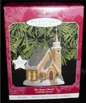 Click here to enlarge image and see more about item 10h: Hallmark Ornament The Stone Church