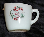 Click here to enlarge image and see more about item 1106s: Fire King Honeysuckle Creamer