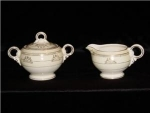 Click here to enlarge image and see more about item 1129: Crown Potteries Creamer & Sugar Set