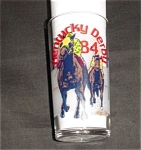 Click here to enlarge image and see more about item 1130s: 1984 Kentucky Derby Church Hill Downs Glass