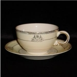 Click here to enlarge image and see more about item 1131: Crown Potteries Cup & Saucer Set