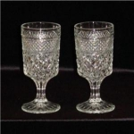 Click here to enlarge image and see more about item 1149: Anchor Hocking Wexford Goblet Set