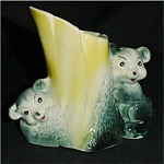 Click here to enlarge image and see more about item 114s: Vintage Bear Planter