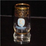 Lowen Brau Munchen 1972 Olympic Glass
