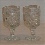 Click here to enlarge image and see more about item 1166: Anchor Hocking Wexford Wine Goblets