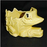 Click here to enlarge image and see more about item 116s: Yellow Frog Planter (McCoy?)