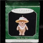 Click here to enlarge image and see more about item 117h: 1998 Hallmark Teddy Ornament