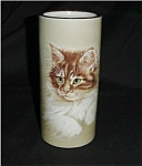 Click here to enlarge image and see more about item 117s: Enesco Cat Vase